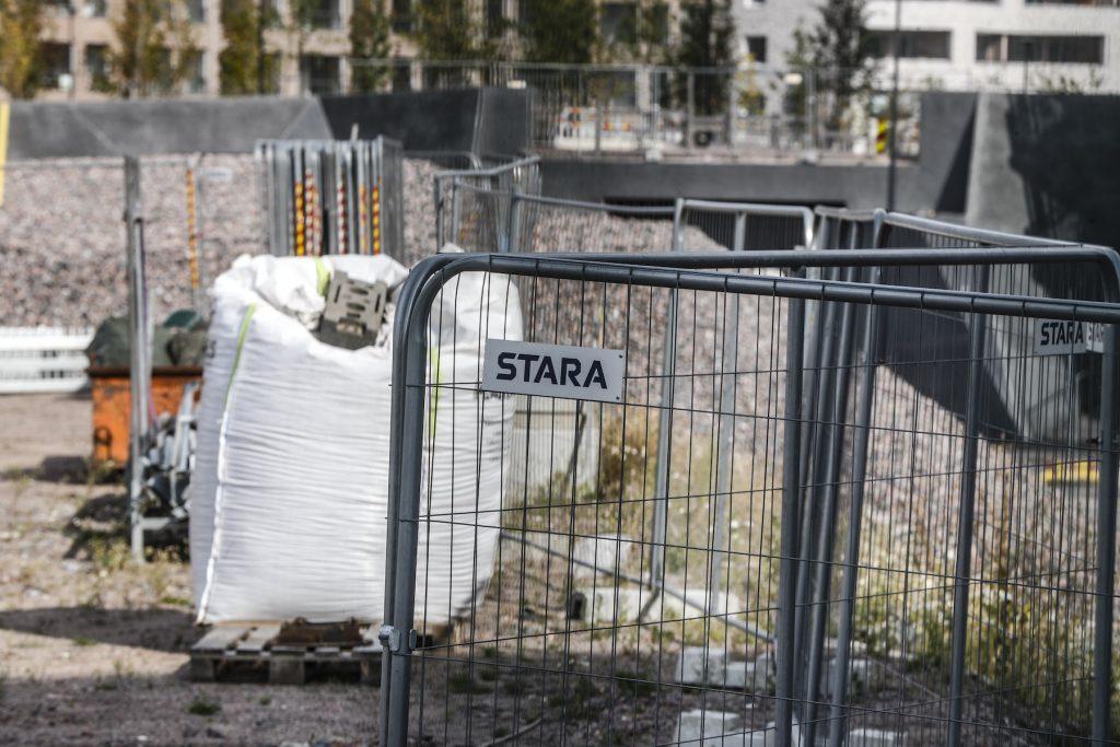Staran työmaalla Jätkäsaaressa